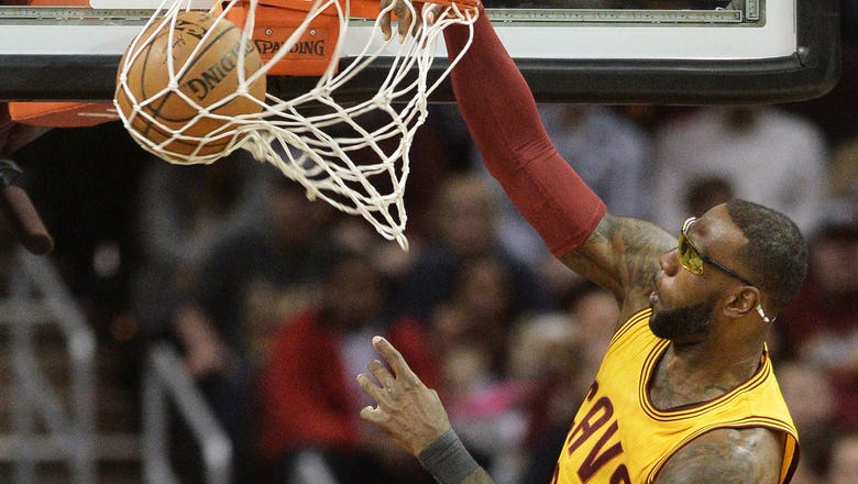 You may never see LeBron dunk while wearing goggles again