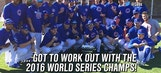 Kurt Busch Works out with the Chicago Cubs