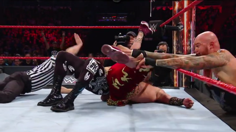 Luke Gallows and Karl Anderson defeated Enzo and Cass to retain the Raw Tag Team Championship