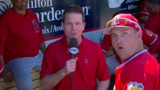 Ben Revere and Mike Trout 'photobomb' Patrick O'Neal