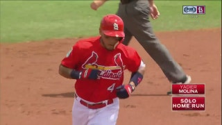 HIGHLIGHTS: Molina homers in first game back from WBC