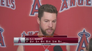 Another solid spring outing for Bud Norris (2 IP, 5Ks) for Angels