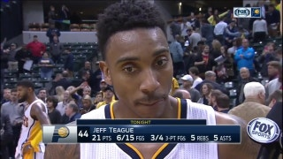 Teague on his rare block: 'It was the defensive play we needed'