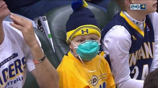 NBA favorite Brody Stephens attends Pacers-Timberwolves game