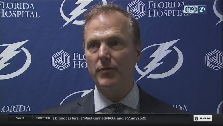 Jon Cooper: We showed something by always answering back in the 2nd