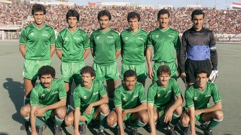 4. Hussein Saeed, Iraq (top, fourth from the left)