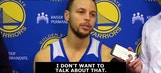 Curry dodges questions about LaVar and Lonzo Ball