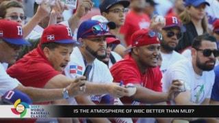 Why is the WBC atmosphere better than MLB regular season?