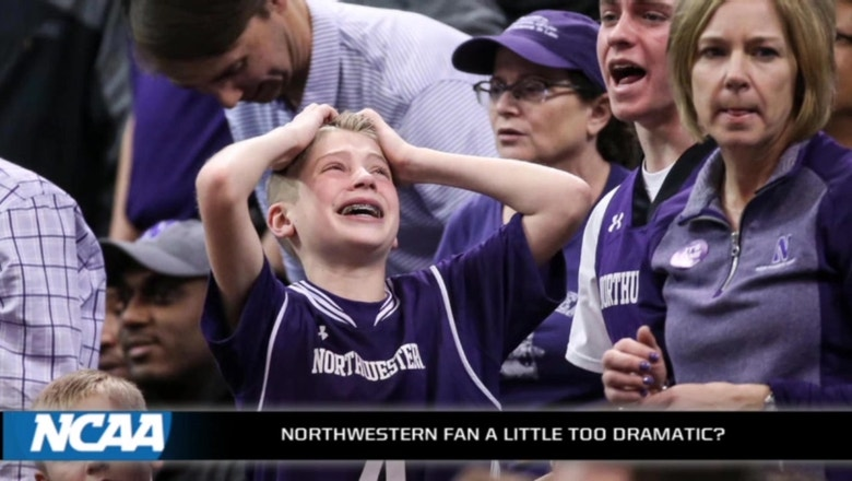 Young Northwestern fan a little too passionate