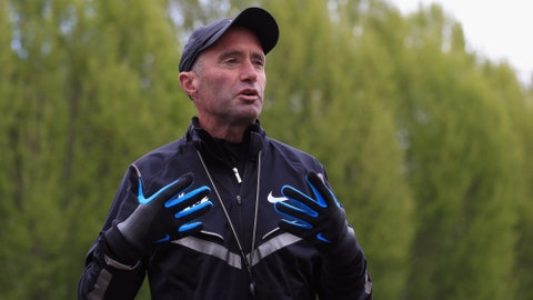 BEAVERTON, OR - APRIL 13:  Coach Alberto Salazar talks about the Nike's Oregon Project on the Nike campus on April 13, 2013 in Beaverton, Oregon.  (Photo by Doug Pensinger/Getty Images)