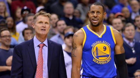 Andre Iguodala's health is a question mark for Golden State once more