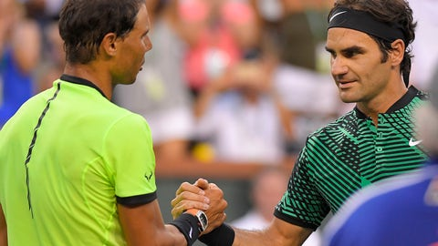 2017: Indian Wells Round of 16 (Federer wins 6-2, 6-3)