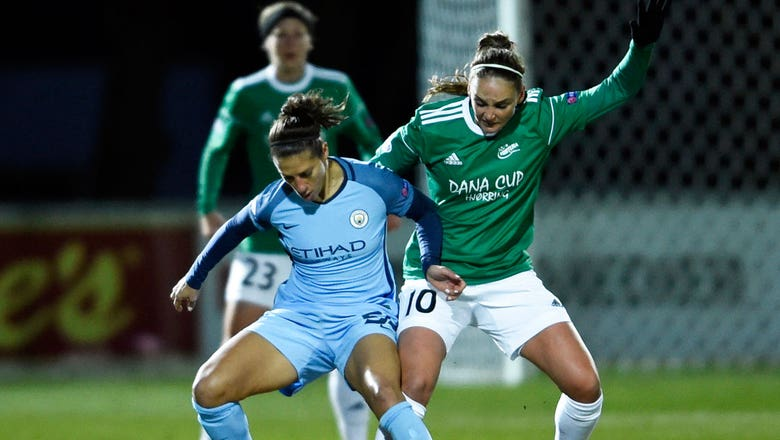 Watch: Carli Lloyd scores for Manchester City in Women's Champions League