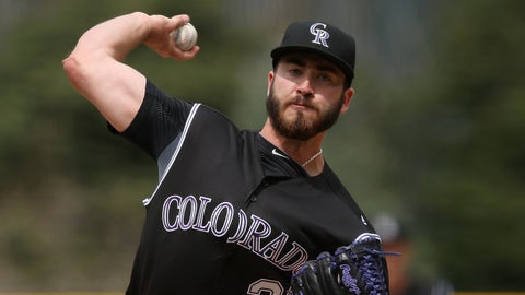 DENVER, COLORADO - APRIL 10:  Starting pitcher Chad Bettis #35 of the Colorado Rockies delivers against the San Diego Padres on April 10, 2016 in Denver, Colorado.  (Photo by Doug Pensinger/Getty Images)