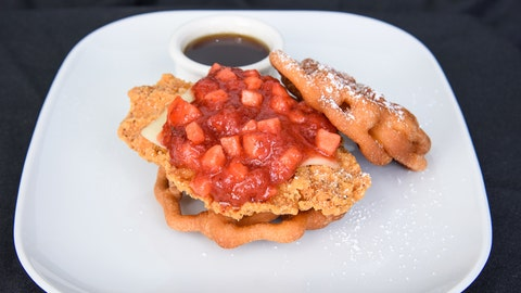 Funnel cake chicken sandwich
