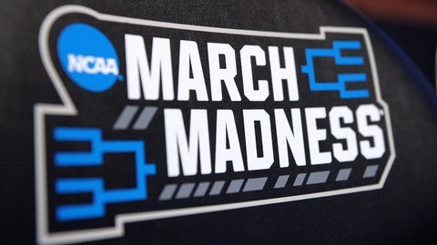 ANAHEIM, CA - MARCH 24: The NCAA's 'March Madness' logo is seen on chair backs during the West Regional Semifinal of the 2016 NCAA Men's Basketball Tournament at Honda Center on March 24, 2016 in Anaheim, California. (Photo by Lance King/Getty Images)