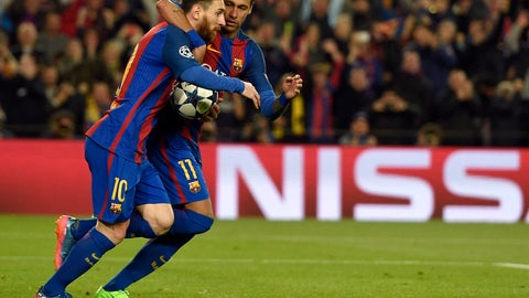 Barcelona scores six, pulls off biggest comeback in Champions League history