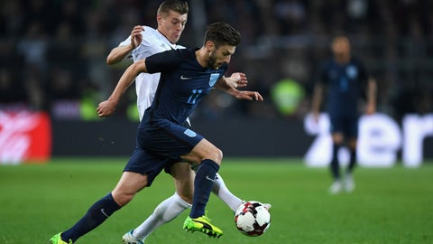 Adam Lallana was probably England's brightest spot