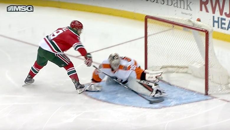 Taylor Hall's breakaway move was so nasty it left Flyers goalie injured