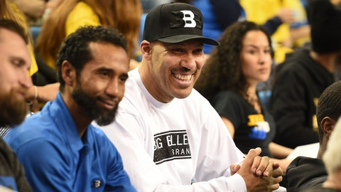 LOS ANGELES, CA - MARCH 01: UCLA guard Lonzo Ball dad LaVar Ball looks on during a college basketball game between the Washington Huskies and the UCLA Bruins on March 1, 2017, at Pauley Pavilion in Los Angeles, CA. (Photo by Brian Rothmuller/Icon Sportswire) (Icon Sportswire via AP Images)