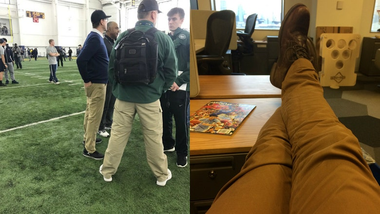 Jim Harbaugh has new pants and I'm wearing the same ones