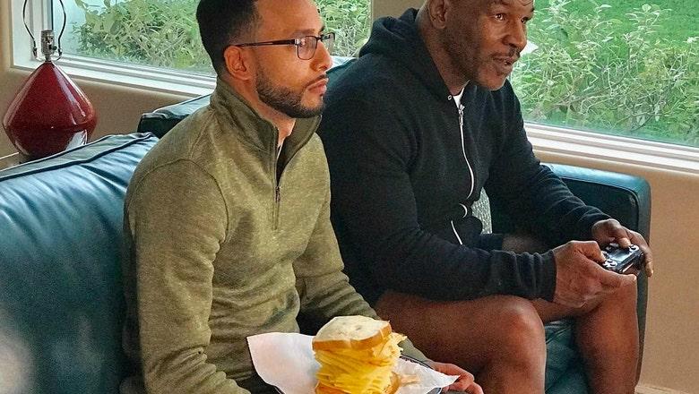 Mike Tyson's obscene cheese sandwich has to be a joke, right?