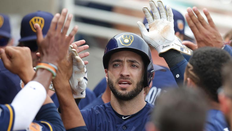 Braun doubles, but Brewers lose to Giants