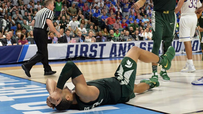 Spartans knocked-out of Tournament by Jayhawks