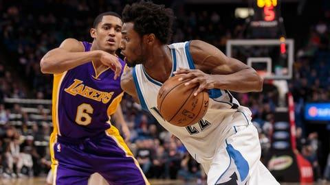 Clarkson leads Lakers past Wolves in OT