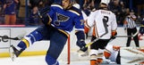 Blues bring five-game win streak to Anaheim