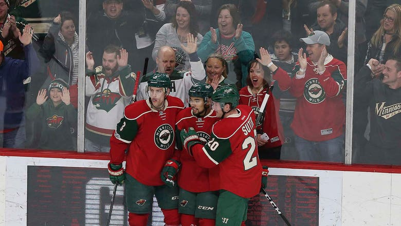 Streak stops here: Wild top the Sharks 3-2