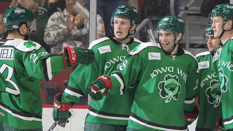 Wild prospect Luke Kunin nets hat trick in third AHL game