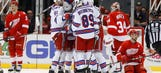 Sloppy Red Wings fall to Rangers 4-1