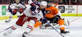 Blue Jackets set franchise records with 5-3 win over Flyers