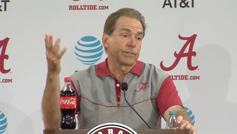 One question sent Nick Saban off after Alabama's first spring practice