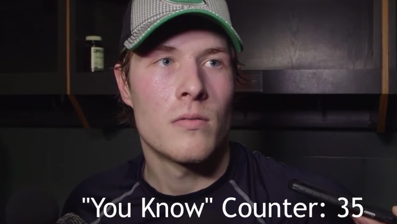 Vancouver Canucks rookie says 'you know' 45 times in three-minute interview