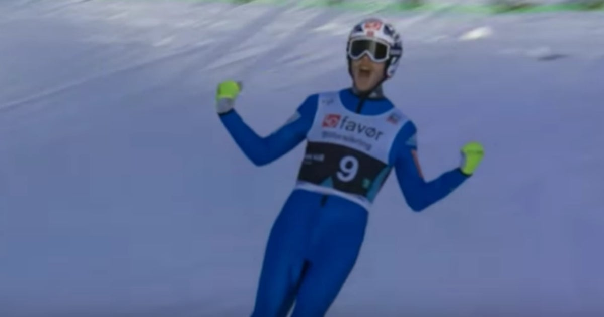 The ski jump world record was broken twice on the same day