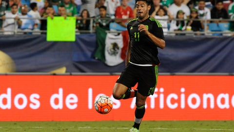 Right wingback: Carlos Vela