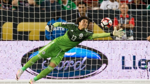 Goalkeeper: Guillermo Ochoa