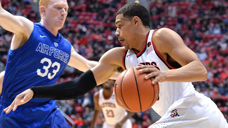 Aztecs' Kell, Shrigley help ground Air Force in 51-38 win