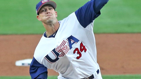 Drew Smyly pitches for Team USA