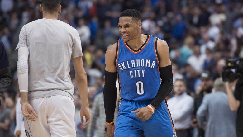 Watch Russell Westbrook hit the game-winner to complete a late comeback against Mavericks