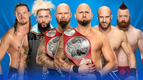 Gallows & Anderson (c) vs. Cesaro & Sheamus vs. Enzo & Cass for the WWE Raw Tag Team Championship