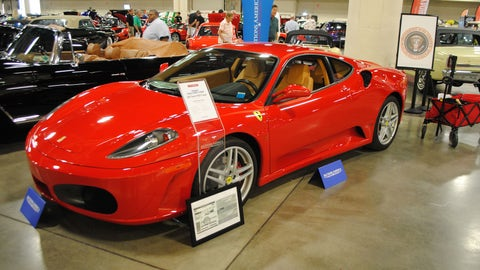 A Ferrari F430 formerly owned by U.S. president Donald J. Trump is exhibited by Auctions America in Fort Lauderdale, Florida on March 31, 2017. (Photo: Leila Macor/AFP/Getty Images)