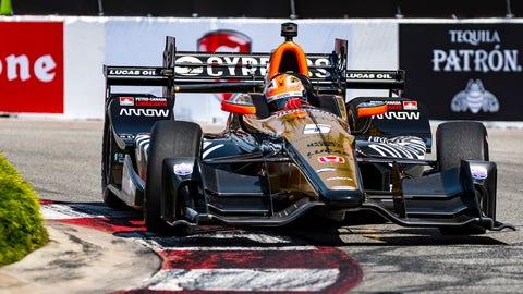 James Hinchcliffe won Sunday's Toyota Grand Prix of Long Beach. (Photo: Gavin Baker/LAT Images)