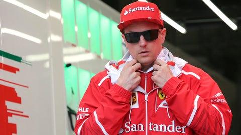 Kimi Raikkonen finished fifth in the Chinese GP while teammate Sebastian Vettel finished second. (AP Photo/Toru Takahashi)
