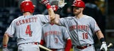 Gennett's 3 hits, 3-run HR power Reds over Pirates