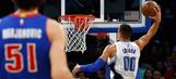 Gordon, Payton propel Magic past Pistons in season finale