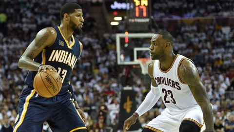 LeBron, Cavs escape with 109-108 win over Pacers in Game 1