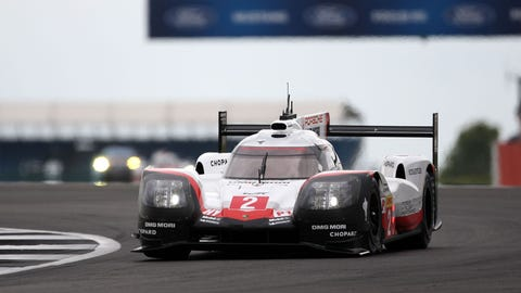 The Porsche 919 Hybrids will start third and fourth for the Six Hours of Silverstone. (Photo: LAT Photographic)